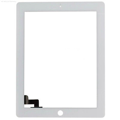 For iPad 2 A1395 Replacement Touch Screen Glass Digitizer & Home Button - White