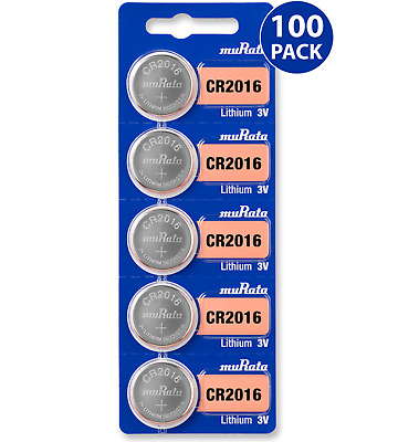 *NEW FRESH* Sony CR2016 3V Lithium Coin Battery (100 Batteries) + Tracking