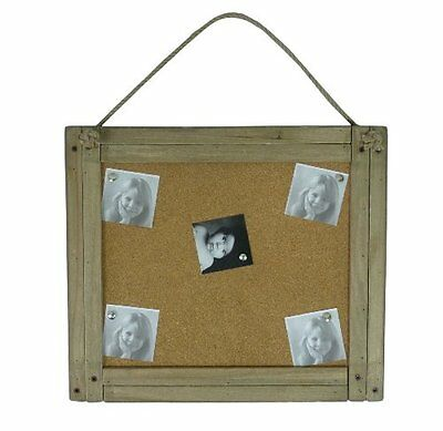Vintage Shabby Chic Cork Message Memo Photo Board with Wooden Frame