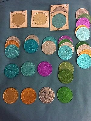 Lot Of 33 Krewe Of Endymion Mardi Gras Doubloons No Dupes