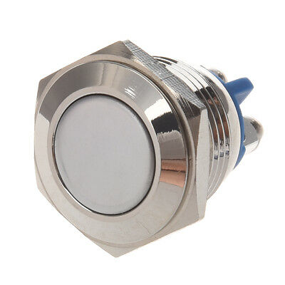 AC 250V 3A NO 16mm Metal Momentary Round Push Button Switch N O Normally Open AD
