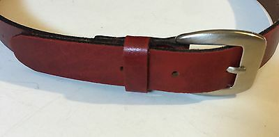 Buffalo Leather Belt Made In Canada Red