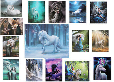 Unicorn fairy Wall Art picture on canvas wall choice of plaques by Anne Stokes