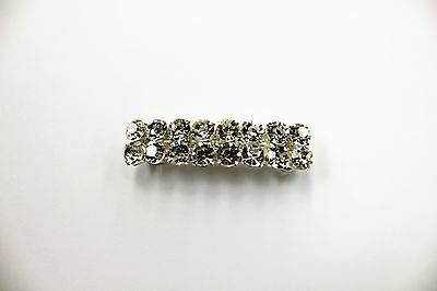 "NEW DANCE PONYTAIL CLIP 2 rows with 8 rhinestones per row. 2.5"" long."