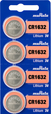 NEW, SONY CR1632 3 Volt Lithium Coin Battery (4 Cells) - Tracking Included!