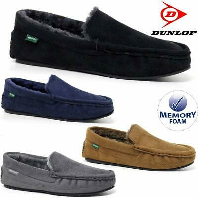 Mens Moccasins Slippers Loafers Faux Suede Sheepskin Fur Lined Winter Shoes Size