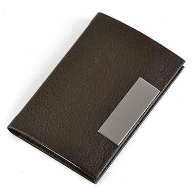 Brown Business Name Card Holder Case Organizer AD