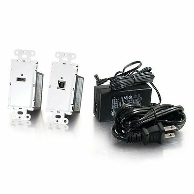 Cables to Go Trulink USB 2.0 Over Cat5 Superbooster Extender Wall Plate Kit53877
