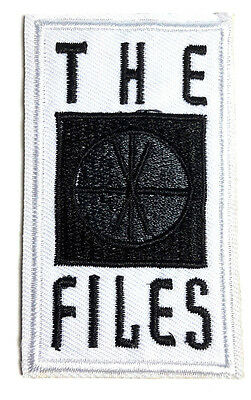 """X-Files Rectangular Logo 3"""" Tall Embroidered Patch- FREE S&H (XFPA-02)"""