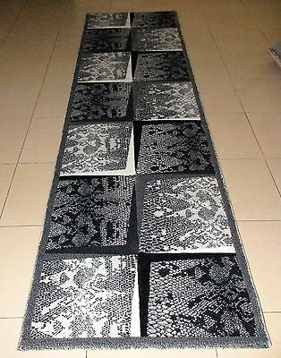 New Grey Animal Skin Print High Quality Heatset Themed Hallway Runner 80X300Cm