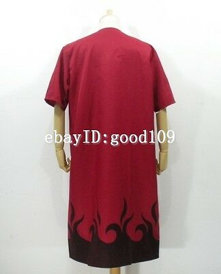 Naruto Uzumaki Cosplay Costume Sage Red Cloak