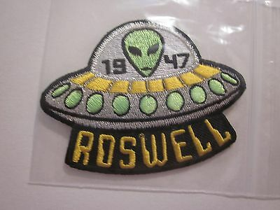 "ROSWELL 1947 UFO ALIEN IRON ON PATCH AREA 51 ""1"" PATCH 3 x 2.5 INCHES  #37"