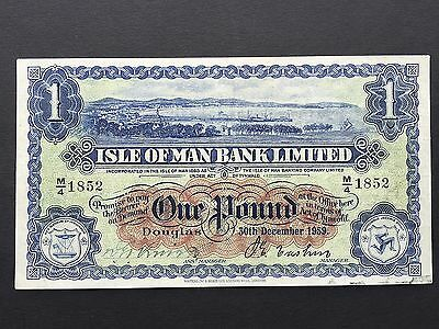 Isle of Man 1 Pound P6d Hand Signed Dated 30th December 1959 aEF