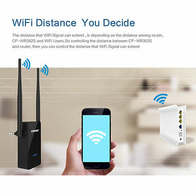 COMFAST 300Mbps Wireless Repeater Network WiFi Signal Range Extender Booster NEW