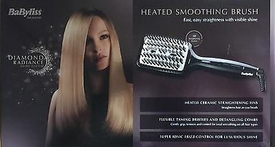 BaByliss Diamond Heated Straightening & Smoothing Brush 2440BDU BRAND NEW SEALED