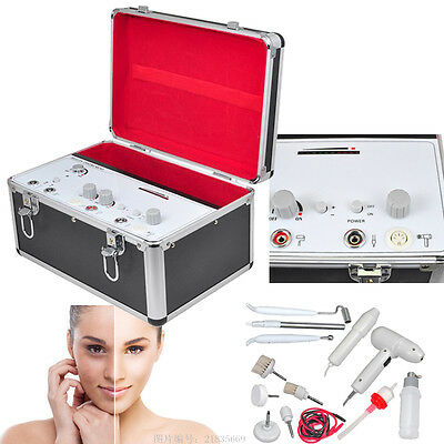 US 5in1 High Frequency Galvanic Vacuum Spray Facial Spa Salon Beauty Machine Pro