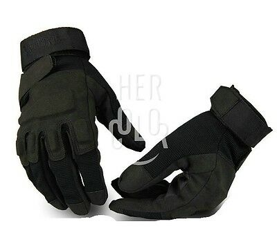 Adjustable Full Finger Black Hawk Military Tactical Airsoft Protective Gloves
