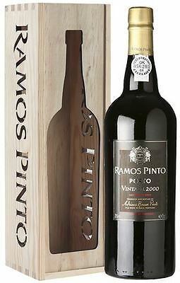 Ramos Pinto Vintage Port 2000 in Wooden Gift Box 75cl