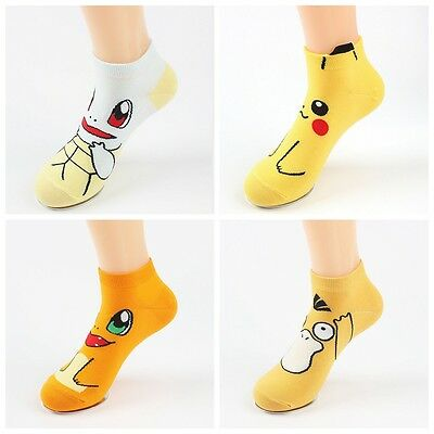 Anime 3D Pokemon go Pikachu Character Socks Pocket Monsters Women Kid Socks WH