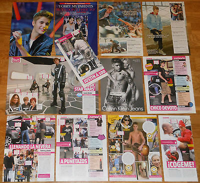 JUSTIN BIEBER spanish clippings photos magazine articles rare pictures