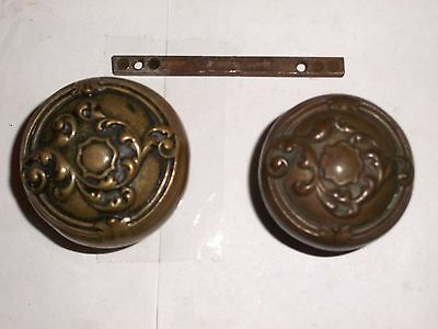 Antique Victorian Renaissance Era Door Knob Set