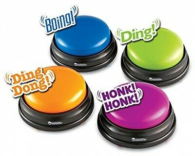 Learning Resources Answer Buzzers (Set of 4) Quiz Game Show Colorful