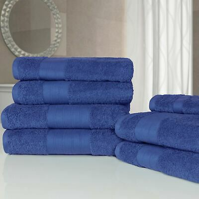 Luxury Soft Hand Bath Face 7 Piece Bathroom Towel Bale Set 100% Egyptian Cotton
