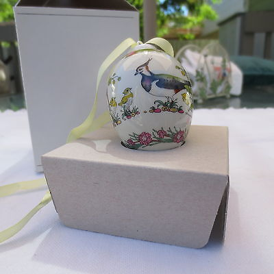 HUTSCHENREUTHER Germany CHRISTMAS EGG shape1999 signed OLE WINTHER porcelain