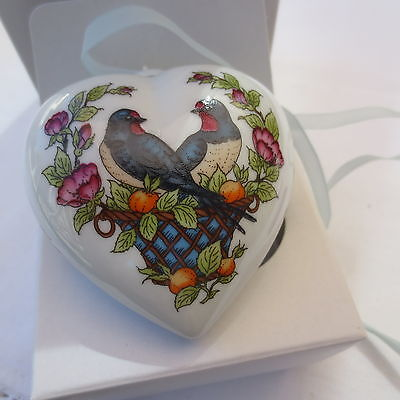 HUTSCHENREUTHER Germany CHRISTMAS HEART 1997 signed OLE WINTHER porcelain