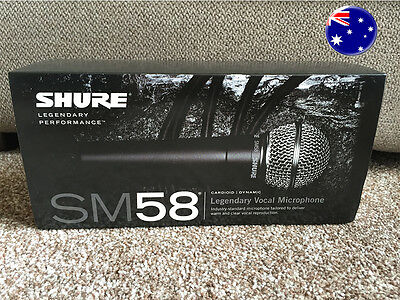Shure SM58 Vocal Microphone - Brand New - Fast Dispatch - AUS Seller