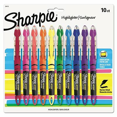 Sharpie Highlighters/Surligneur, Assorted Colors, 10 Pack