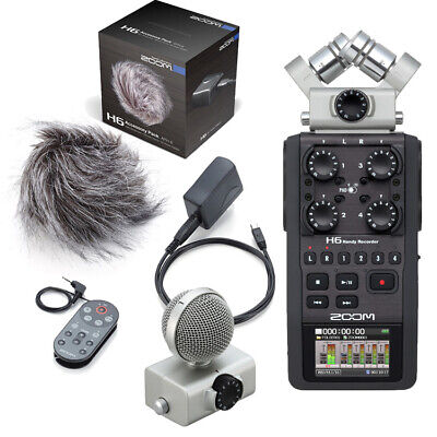 Zoom H6AP Portable Field Recorder 6-Channel Handy Recorder with Accessory Pack
