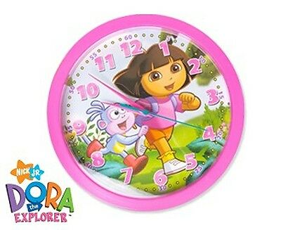 DORA THE EXPLORER & BOOTS Pink Wall Clock NEW IN BOX