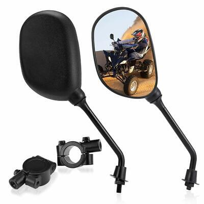 "Rearview Mirror Set and Bracket For 7/8"" Handlebar Polaris line of Snowmobiles"