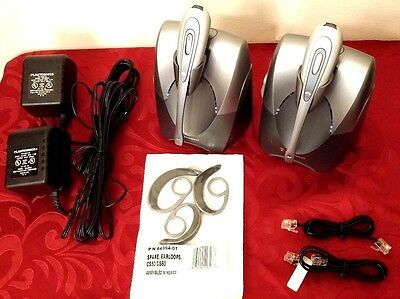 2 Lot Plantronics Cs55 Tested Wireless System Headset Power Adapter Supply