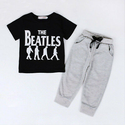 Toddler Kids Baby Boy T-shirt Tops+ Jogger pants Trousers Outfits Clothing Set