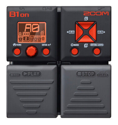 ZOOM B1ON Multi Effects Bass Pedal w/ 75 digital FX plus Amp Modes -BNIB