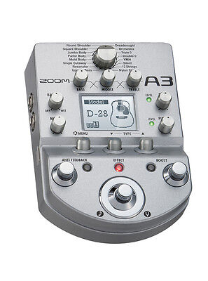 Zoom A3 Multi Effects and Pre-Amp Model for Acoustic Guitars