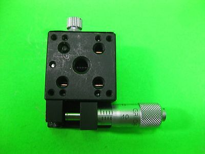 """Melles Griot Linear Stage Positioner 1"""" with Micrometer -- New --"""