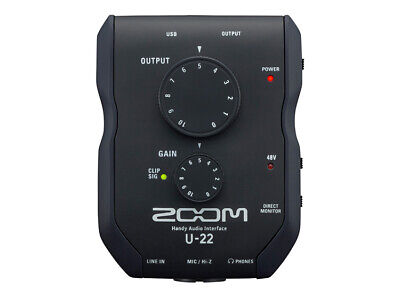 Zoom U-22 USB Audio Interface 2 in 2 out for PC / MAC / iPad / iPhone