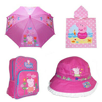 Kids Girls Large Shoulder School Bag Backpack Gift Peppa Pig Towel Cap Wallet