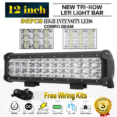12inch 648W Philips Led Work Light Bar Spot Flood Offroad Driving Lamp Truck 4WD