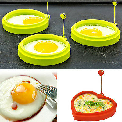 Silicone Egg Pancake Ring Mold Shaper Kitchen Breakfast Cooking Tool Fantastic