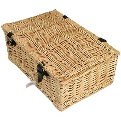 Wicker Hamper Basket 36cm Box Storage Container With Handles Christmas Picnic
