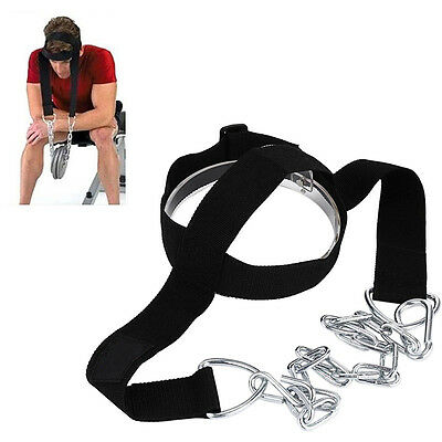 Head-Neck Dipping Harness Training Body Building Weight Lifting Chain GYM Strap