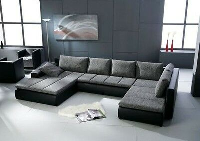 Corner sofa Belessa U- Shape with Bed function Sleep function Set Couch 01701