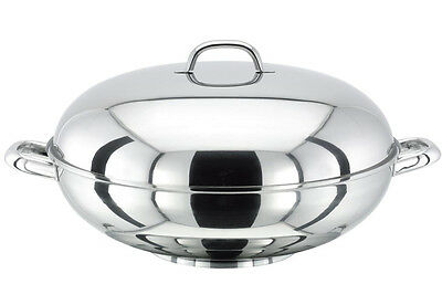 Stella James Martin Lamina Cookware 32 cm Wok With Extra Wide Flat Base & Domed