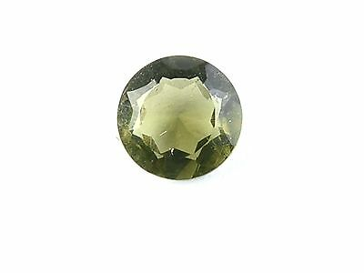 0.49cts round 5.5mm CHECKER TOP moldavite faceted cutted gem BRUS1459