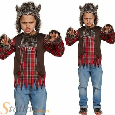Child Werewolf Costume Boys Girls Halloween Wolf Fancy Dress Outfit  sc 1 st  PicClick UK & CHILDS WEREWOLF COSTUME Boys Girls Wolf Halloween Fancy Dress Kids ...