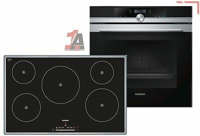 Siemens Backofenset EQ2Z030 Oven HB634GBS1 EEK:A+ and Cooktop EH845FM17E